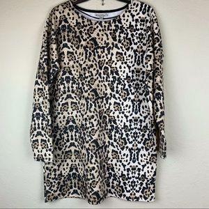 Zara Trafaluc animal print long sleeve dress